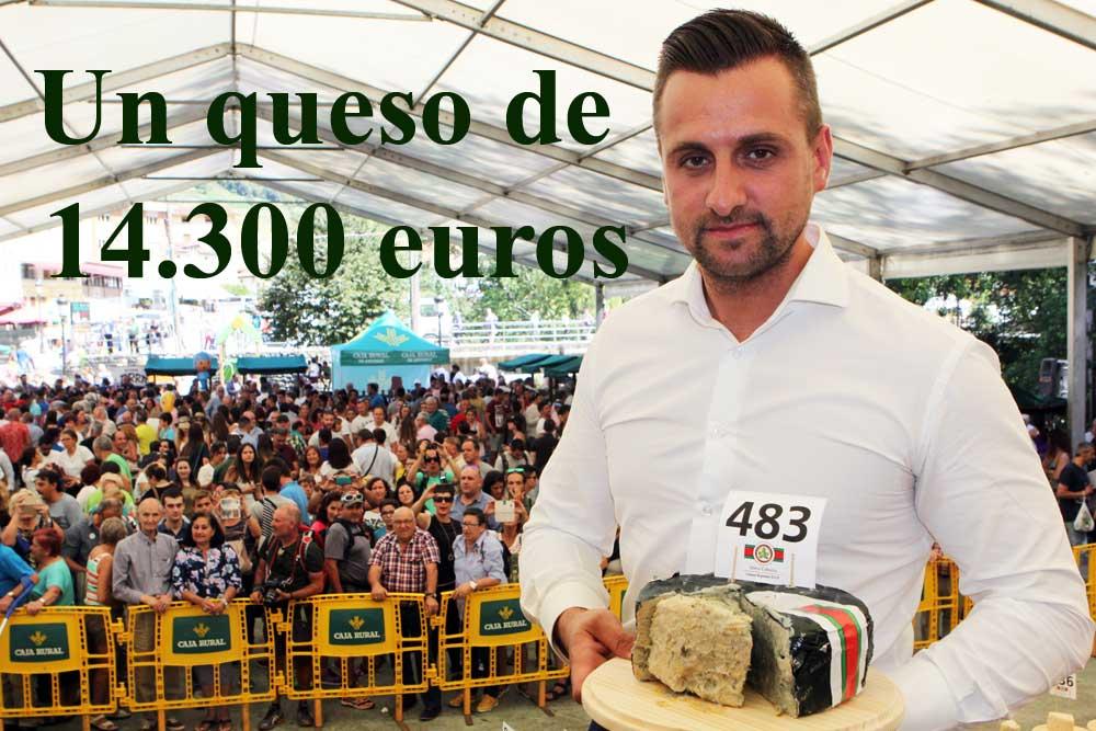 Iván Suárez propietario del Llagar de Colloto restaurante que ha pagado los 14.300 euros