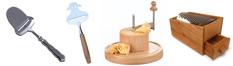 instrumentos para cortar queso, rebanadores y ralladores de queso
